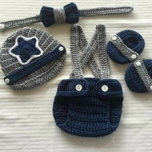 Other - Crochet Baby Boy Dallas Cowboys Football Set